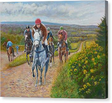 The Gallops Canvas Print by Tomas OMaoldomhnaigh