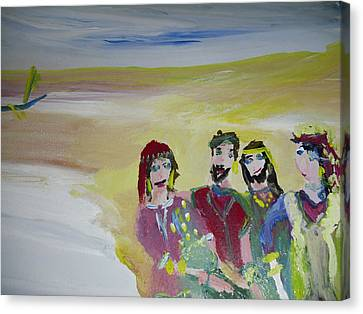 The Gang Canvas Print by Judith Desrosiers