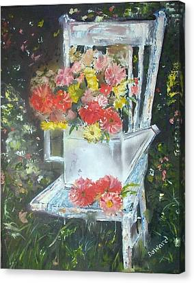 The Garden Chair Canvas Print by Raymond Doward
