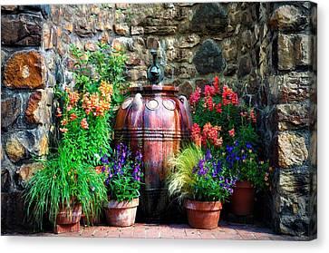 The Garden Cistern Canvas Print