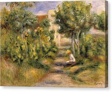 The Garden In Cagnes Canvas Print