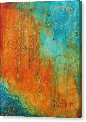 Canvas Print featuring the painting The Garden by Nicole Nadeau