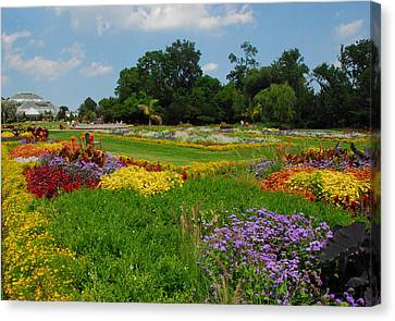 The Gardens Of The Conservatory Canvas Print by Lynn Bauer