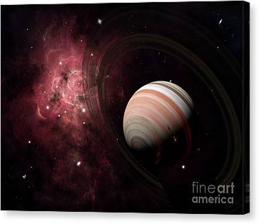 The Gas Giant Carter Orbited By Its Two Canvas Print by Brian Christensen