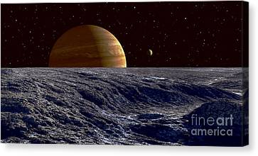 The Gas Giant Jupiter Seen Canvas Print by Frank Hettick
