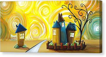 The Gated Community Canvas Print by Cindy Thornton