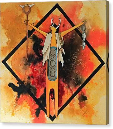 the Gatherer Canvas Print by Karen Casciani