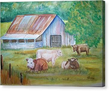 The Gatherin Canvas Print by Belinda Lawson