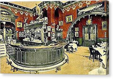 The Gentleman's Cafe And Bar In The Hotel Navarre Canvas Print by Dwight Goss