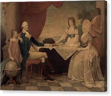 The George Washington Family Canvas Print by Everett