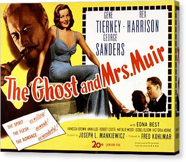 The Ghost And Mrs. Muir, Poster Art Canvas Print by Everett