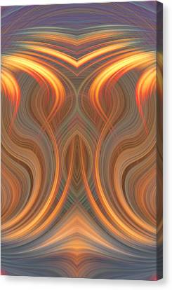 Blending Canvas Print - The Ghost Of Fire by Linda Phelps