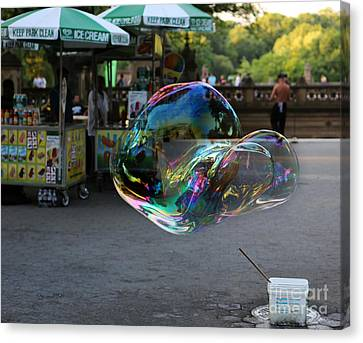The Nature Center Canvas Print - The Giant Bubble At Bethesda Terrace by Lee Dos Santos