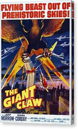 The Giant Claw, Poster, 1957 Canvas Print by Everett