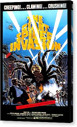 The Giant Spider Invasion, Poster Art Canvas Print by Everett
