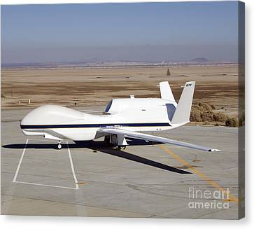 The Global Hawk Unmanned Aircraft Canvas Print by Stocktrek Images