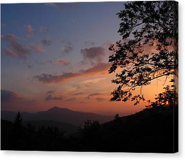 The Gma Cold Mt Sunset Canvas Print by Alan Ostmann