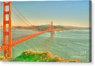 The Golden Gate Bridge  Fall Season Canvas Print