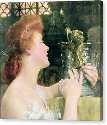 The Golden Hour Canvas Print by Sir Lawrence Alma-Tadema
