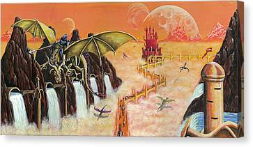 Canvas Print featuring the painting The Golden Path by Kurt Jacobson