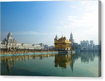 Sikhism Canvas Print - The Golden Temple, Harmandir Sahib, Sikh Shrine by Inti St. Clair