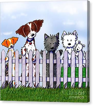 The Gossip Gang Canvas Print by Kim Niles