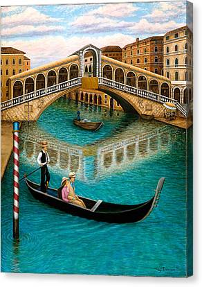 The Grand Canal Canvas Print by Tracy Dennison