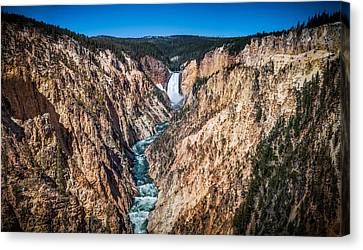 The Grand Canyon Of Yellowstone Canvas Print by Brad Boserup