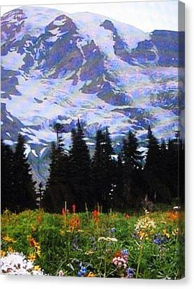 Canvas Print featuring the photograph The Grand Tetons In Jackson  by Shawn Hughes