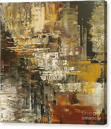 Canvas Print featuring the painting The Gravelpit Code by Tatiana Iliina