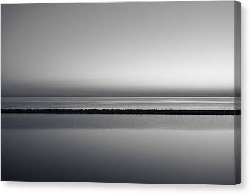 The Grays Of A Sunrise Canvas Print by CJ Schmit