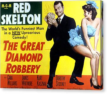 The Great Diamond Robbery, Red Skelton Canvas Print by Everett