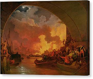 The Great Fire Of London Canvas Print by Philip James de Loutherbourg