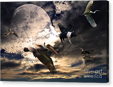The Great Migration . Full Color Canvas Print by Wingsdomain Art and Photography