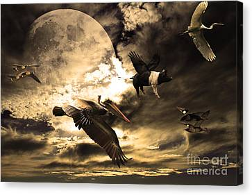 The Great Migration Canvas Print by Wingsdomain Art and Photography
