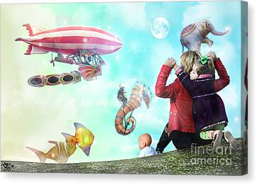 The Great Parade Canvas Print by Rosa Cobos
