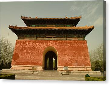 The Great Red Gate, Entrance Canvas Print by Richard Nowitz