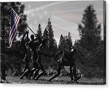Canvas Print featuring the photograph The Greatest Generation  by Larry Depee