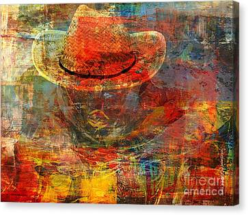 The Greatest Hope Is Not The Hat Canvas Print by Fania Simon