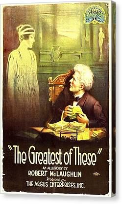 The Greatest Of These, From Left, Belle Canvas Print