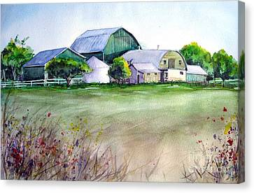The Green Barn Canvas Print by Ronald Tseng