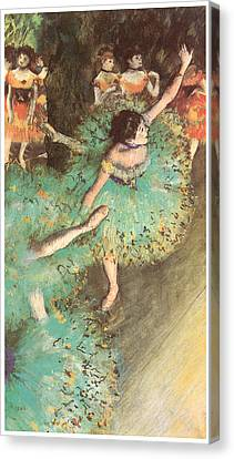 The Green Dancer Canvas Print by Edgar Degas