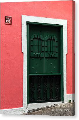 The Green Door Canvas Print by John Rizzuto