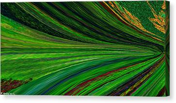 The Green Movement Canvas Print by Rita Nordal