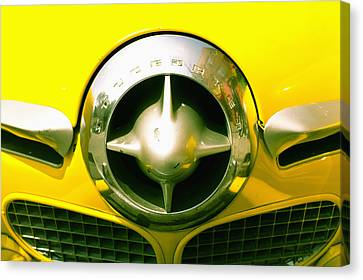 The Grill Of A Yellow Studebaker Car Canvas Print by David DuChemin
