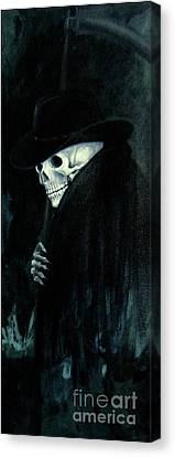The Grim Reaper Canvas Print by Barbara Marcus