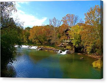 Canvas Print featuring the photograph The Grist Big River by Peggy Franz