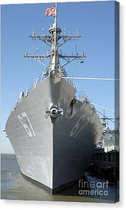The Guided Missile Destroyer Uss Cole Canvas Print by Stocktrek Images
