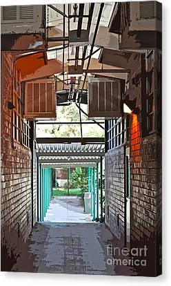 The Hallway Canvas Print by Gwyn Newcombe