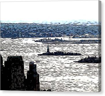 Canvas Print featuring the photograph The Harbor by Anne Raczkowski